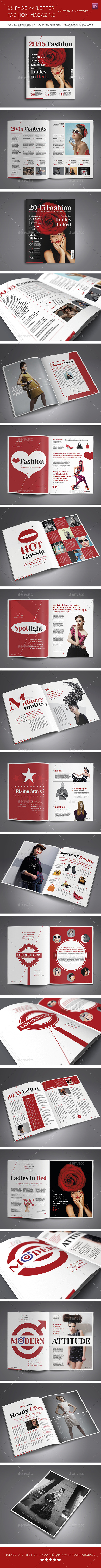 GraphicRiver 28 Page A4 Letter Fashion Magazine and Extra Cover 9332000