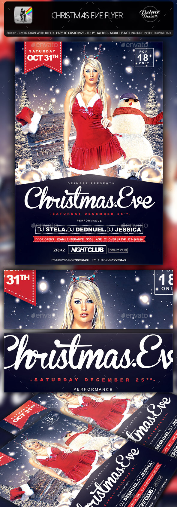 GraphicRiver Christmas Eve Flyer 9332016
