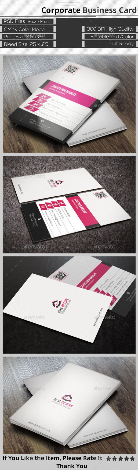 GraphicRiver Clean Corporate Business Card 9332097