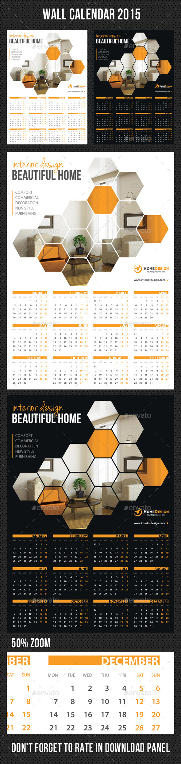GraphicRiver Wall Calendar 2015 V04 9332183