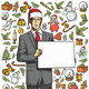 Christmas Card With Man - GraphicRiver Item for Sale
