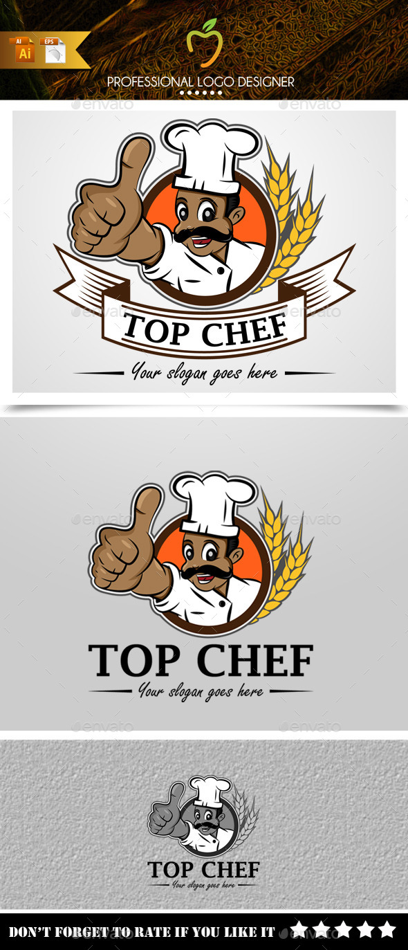 GraphicRiver Top Chef Logo 9314411