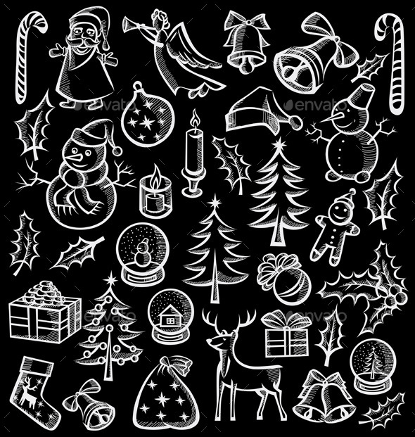 GraphicRiver Christmas Objects and Elements 9332391