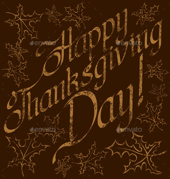GraphicRiver Thanks Giving text 9332413