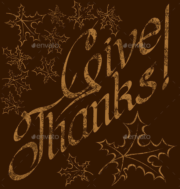 GraphicRiver Thanks Giving Text 9332415
