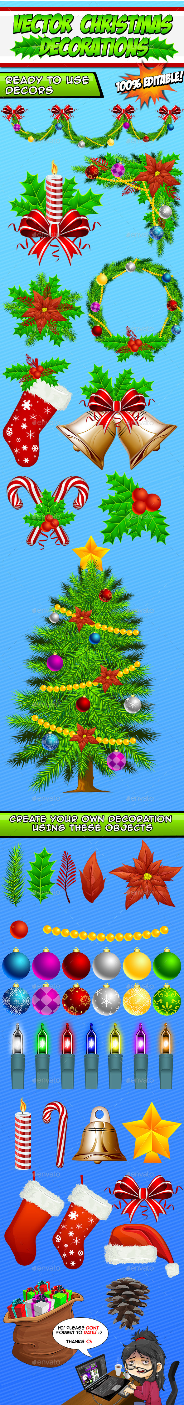 Vector Christmas Decorations Create Your Own