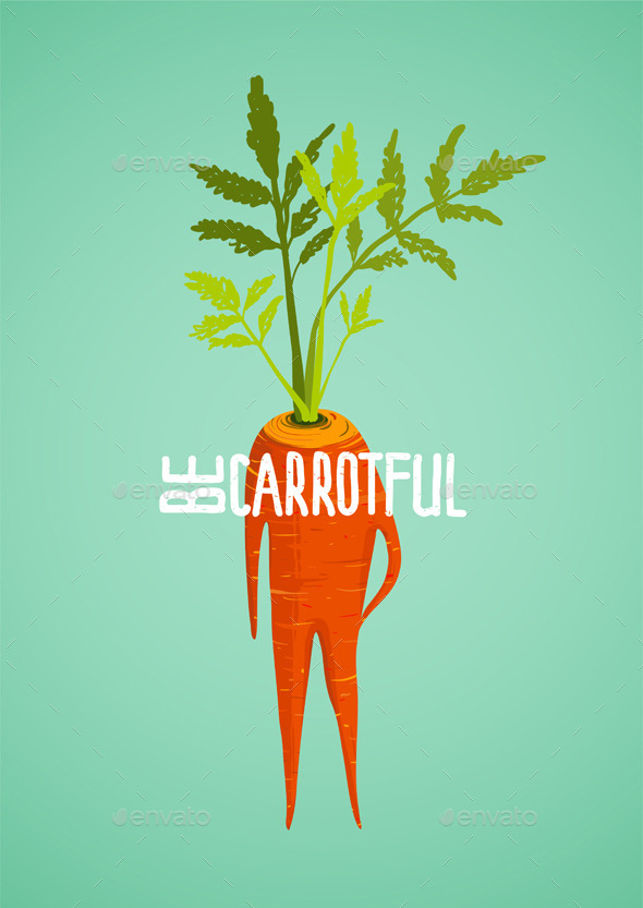 GraphicRiver Carrot Diet Inspirational Vegetable Concept 9332830