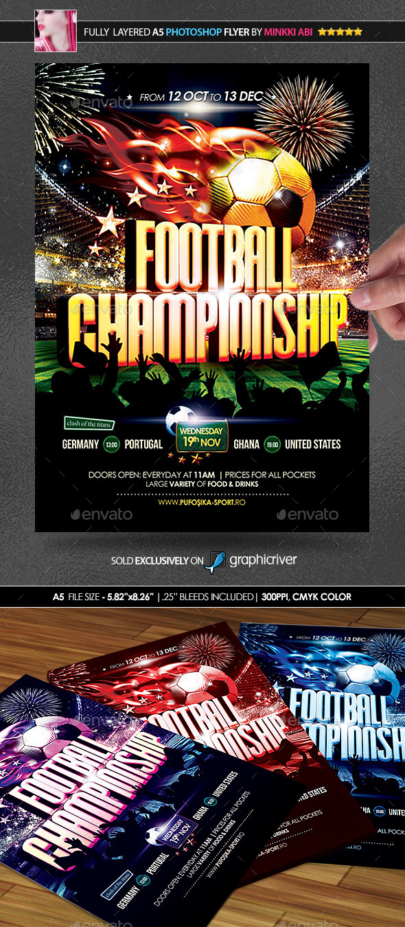 GraphicRiver Football Championship Poster Flyer 9289010