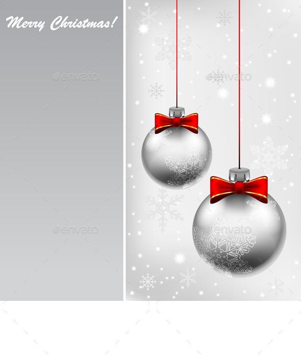 GraphicRiver Silver Christmas Ball 9332913