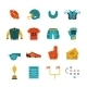 Football Flat Icons Set - GraphicRiver Item for Sale