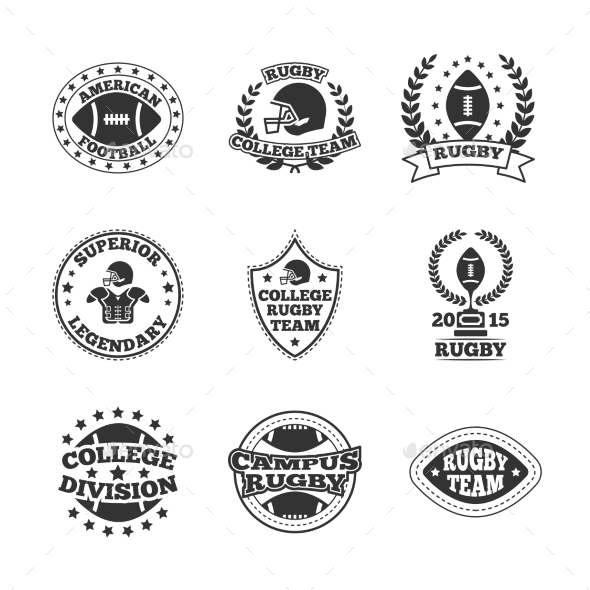 GraphicRiver Baseball Labels Icons Set 9333047