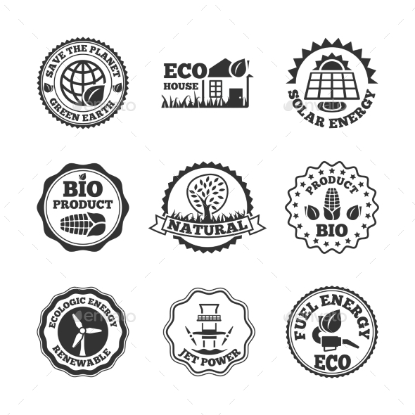 GraphicRiver Eco Energy Labels Set 9333051