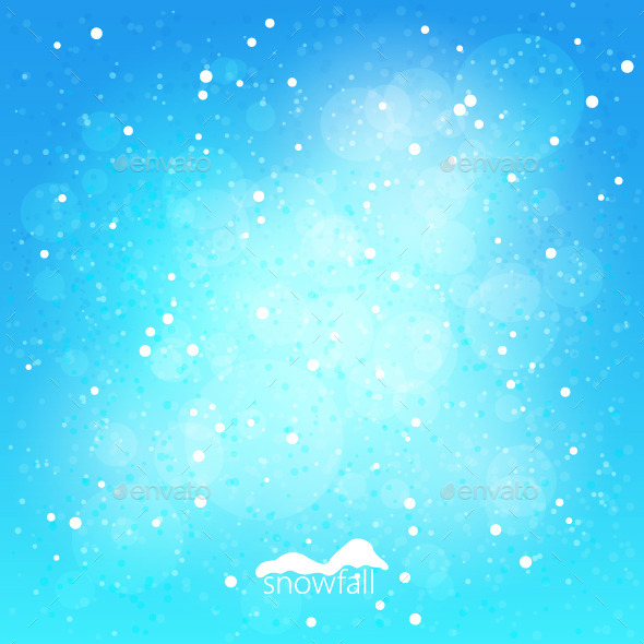 GraphicRiver Snowfall Abstract Blue Winter Background 9333123