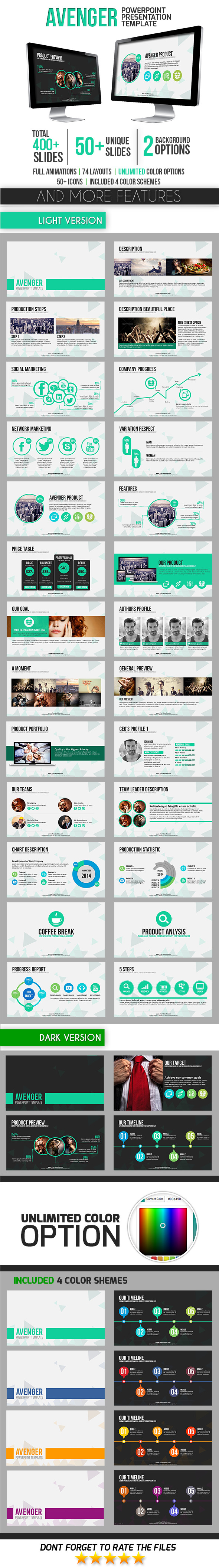 GraphicRiver Avenger PowerPoint Template 9333279