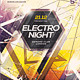 Electro Night Party Poster - GraphicRiver Item for Sale