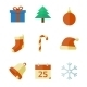 Christmas Icons in Flat Style - GraphicRiver Item for Sale