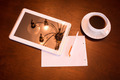 Classical Coffee and Tablet PC - PhotoDune Item for Sale