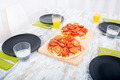Pizza served on wooden table - PhotoDune Item for Sale