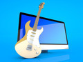 A All in one computer with a Guitar - PhotoDune Item for Sale