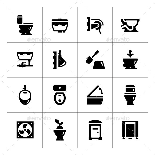 GraphicRiver Set Icons of Toilet 9333778
