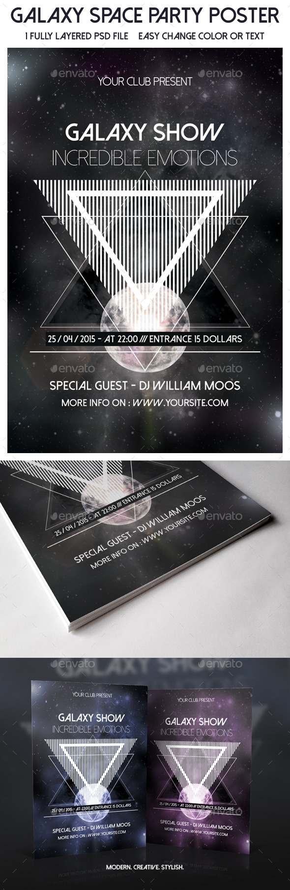 GraphicRiver Galaxy Space Party Poster 9333821