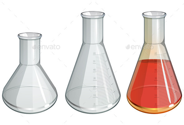 GraphicRiver Chemistry Apparatus Flask Set Illustration 9333908