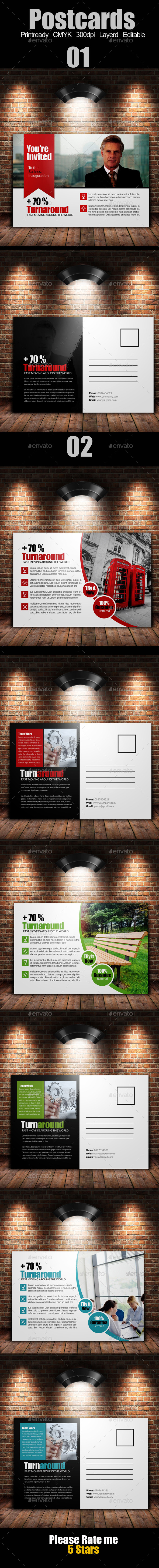 GraphicRiver Multi Use Business Post Cards Bundle 9333919