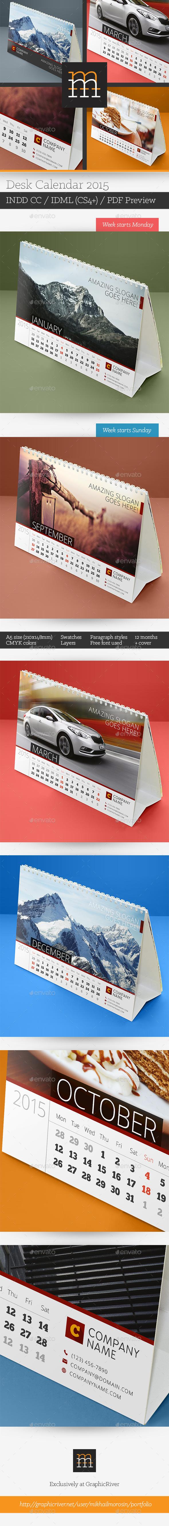 GraphicRiver Desk Calendar 2015 9334038