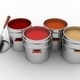 Open buckets with a paint and roller - PhotoDune Item for Sale