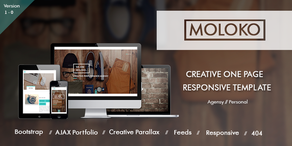ThemeForest Moloko Creative Responsive One Page Template 9334107