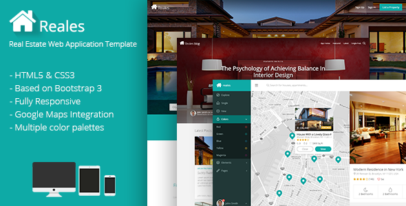 ThemeForest Reales Real Estate Web Application Template 9135762