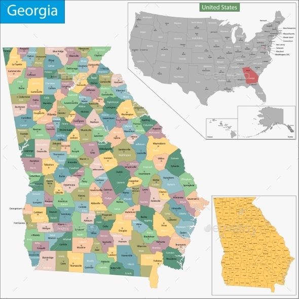 GraphicRiver Georgia Map 9334202