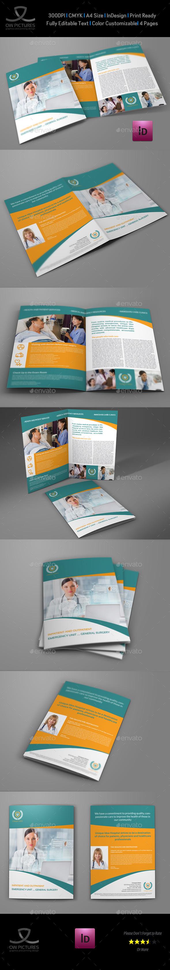 GraphicRiver Hospital Bi-Fold Brochure Template Vol.2 9334242