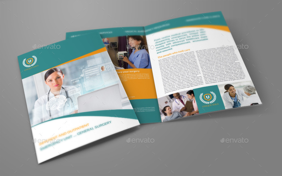 brochure templates envato hospital bi fold brochure template vol 2 by owpictures