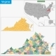 Virginia Map - GraphicRiver Item for Sale