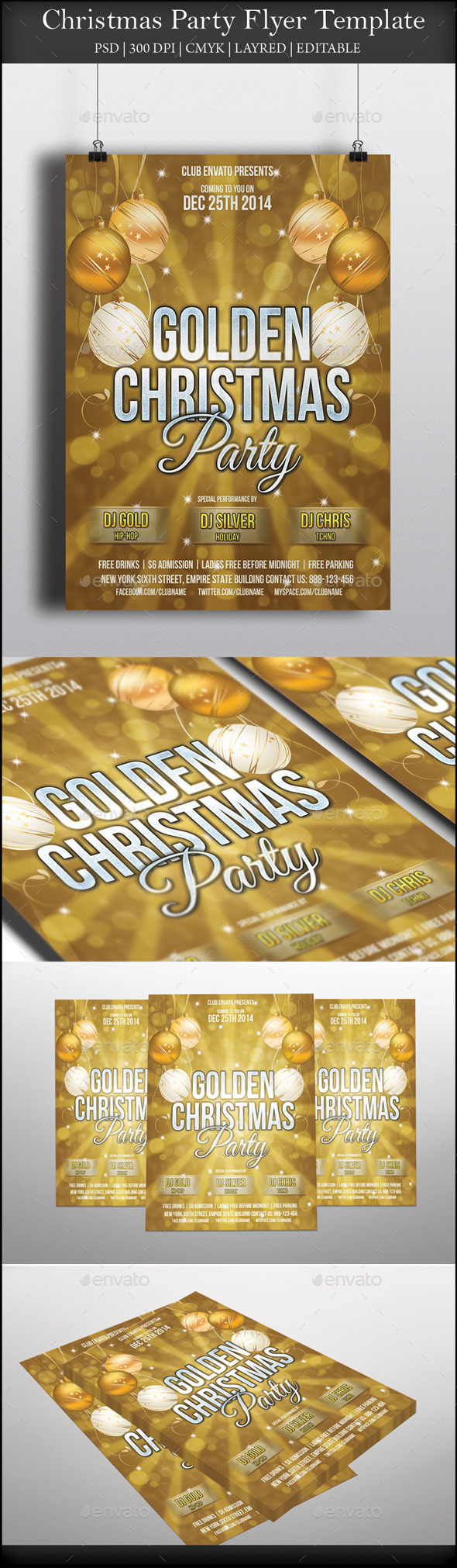 GraphicRiver Christmas Party Flyer 9292128