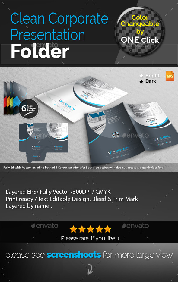 GraphicRiver Clean Corporate Presentation Folder 9334428