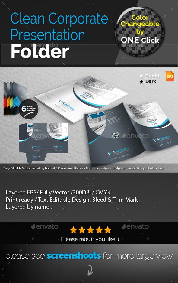 GraphicRiver Clean Corporate Presentation Folder 9334428