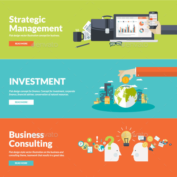 GraphicRiver Set of Flat Design Concepts for Business 9334472