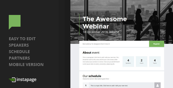 ThemeForest Dialog Instapage Event Landing 9334615