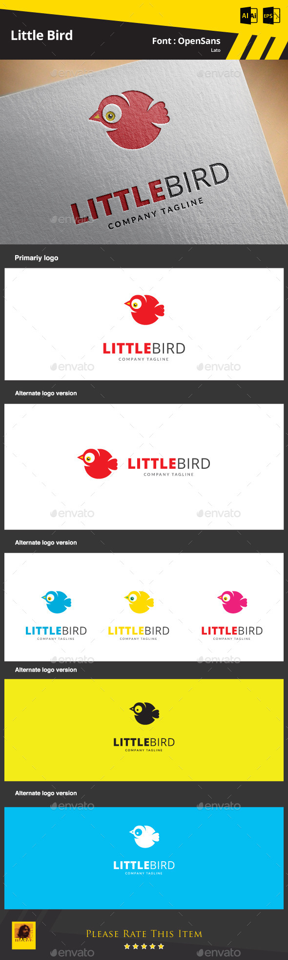 GraphicRiver Little Bird Logo Template 9334645
