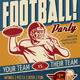 Retro Football Party or Event Poster/Flyer - GraphicRiver Item for Sale