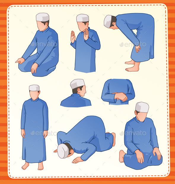 GraphicRiver Muslim Praying Position 9334898