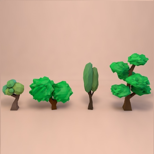 Collection of lowpoly trees