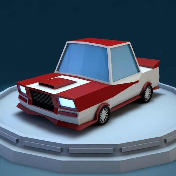 3DOcean Low poly car 9334951