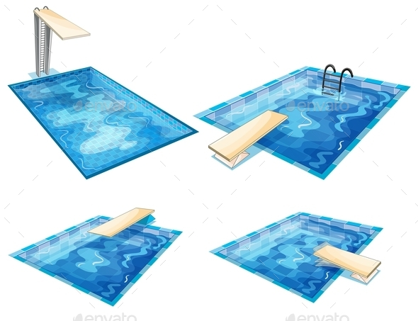 GraphicRiver Set of Pools 9335011