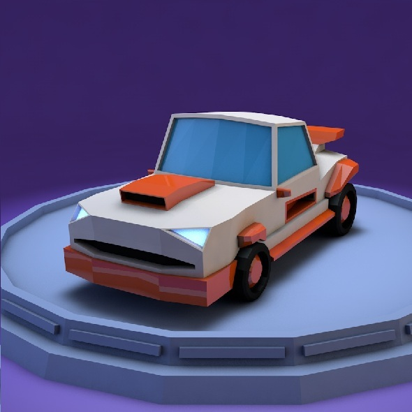 Low poly muscle car
