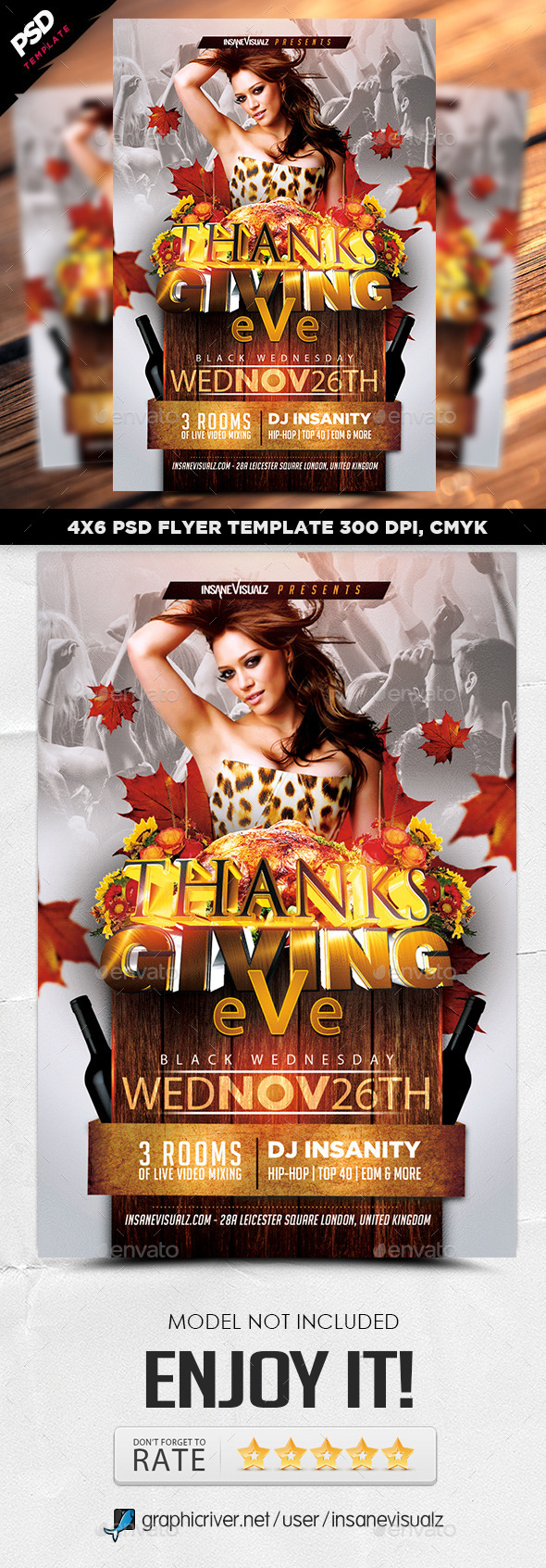 GraphicRiver Thanksgiving Eve 2014 Flyer 9277289