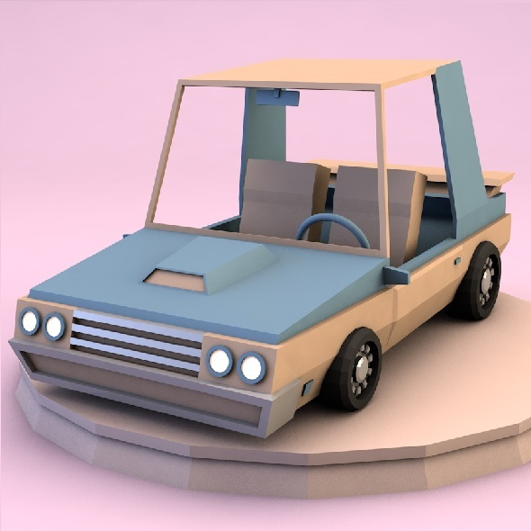 3DOcean Low poly car 9335515