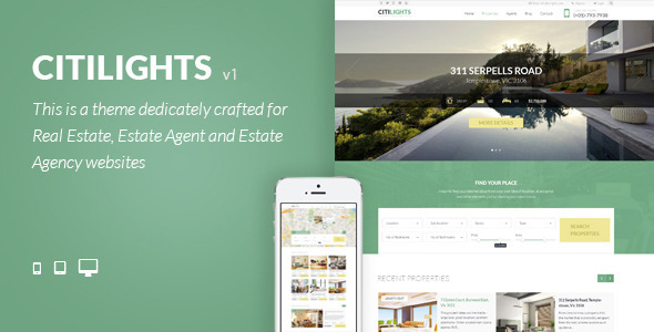 CitiLights - Real Estate WordPress Theme